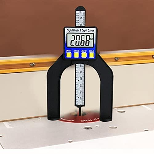 HYY-YY Medidor de altura de pantalla digital, medidor de profundidad electrónico, regla, herramientas de medición de carpintería, rango de 0 a 80 mm (color: Acerca de la descripción)