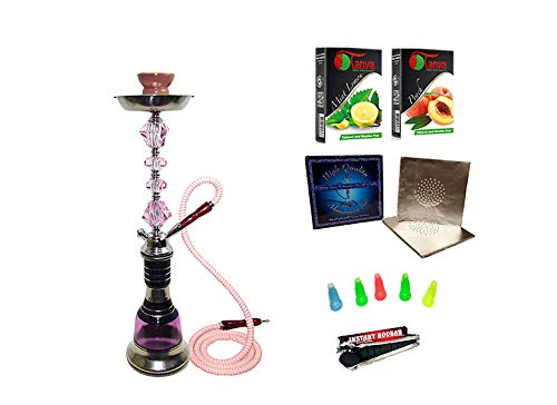 """Glass Hookah Shisha Nargile Smoke Pipe 14"""" Al Fakher"""