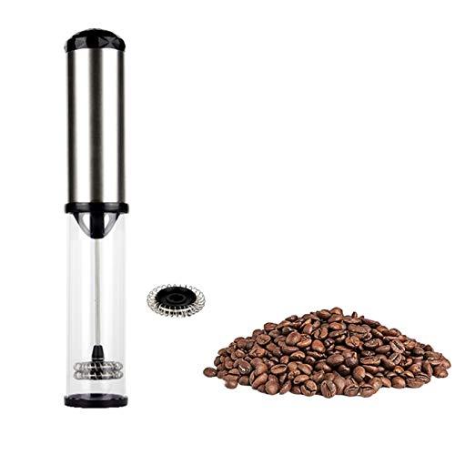 Milk Fretro Handheld, Mini Portátil Bebida de Acero Inoxidable Bebida Matcha Froth for Coffee, para Latte Cappuccino Frappe Hot Chocolate