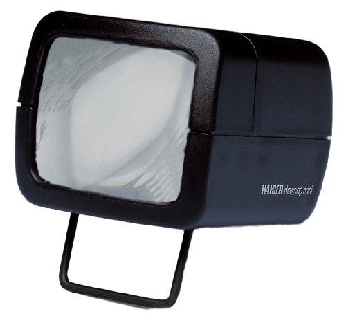 Kaiser KA2010 - Visor de Diapositivas Diascop Mini 3 (2 x 1.5 V AA, E10, 0.3A, 63 x 53 mm), Negro