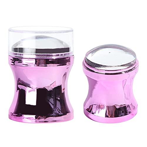 Herramienta de tampón de uñas, kit de raspador de uñas, sello transparente para arte de uñas de gel claro,...