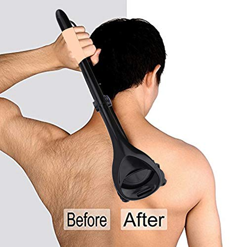 JMung Rückenrasierer Rasierbügel Köper Rasierer Faltbarer Doppel schneidkopf Wasserwäsche kann auf den gesamten Körper angewendet Werden