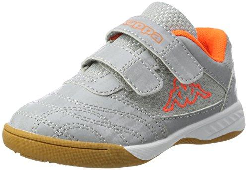 Kappa Jungen Unisex Kinder Kickoff Multisport Indoor Schuhe, Schwarz Black Grey 1116, 33 EU
