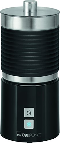 Clatronic MS 3654 melkopschuimer, roestvrijstalen container, warm en koud opschuimen zwart