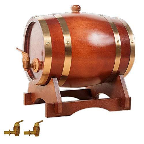 KHXJYC Barriles De Envejecimiento De Roble, Dispensadores De Barril De Whisky, para Almacenamiento, Tiendas, BistróS, Fiestas, Whisky, Contenedores De Almacenamiento (Roble),10L