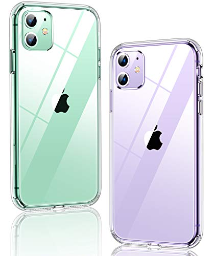 Humixx Shockproof Clear iPhone 11 Case [7 FT Military Grade Drop Protection] [15X Anti-Yellowing] Diamond Crystal Transparent Protective Hardcase Cover with Soft Bumper for iPhone 11 6.1 Inch-HD