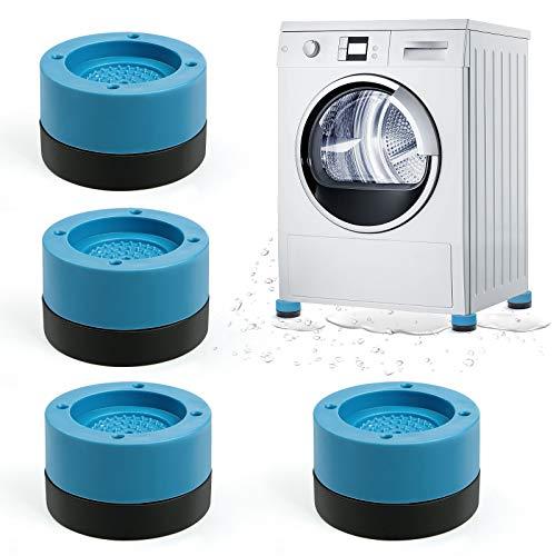 Almohadillas para Pies de Lavadora, Comius Sharp 4 Piezas Almohadillas Goma Antivibración para Lavadora Amortiguador de Vibraciones, Universal Almohadillas Antivibraciones para Secadoras de La