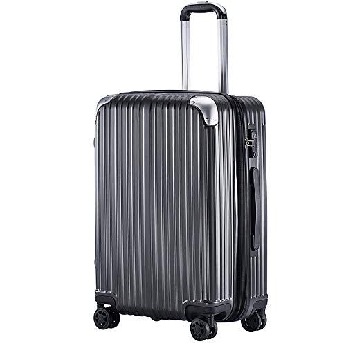 (TTOバリジェリア)TTOVALIGERIA スーツケース Sサイズ機内持ち込み キャリーケース キャリーバッグ 容量拡張 軽量 静音 TSAロック搭載 ファスナータイプ 大型 (Sサイズ ダークグレー)