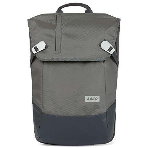AEVOR Daypack - erweiterbarer Rucksack, wasserfest, ergonomisch, Laptopfach - Proof Stone - Grau