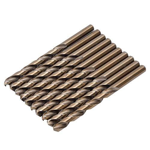 Herramienta de Perforación de Hierro de Acero Inoxidable de 10 Piezas de Brocas de Acero de Alta Velocidad Broca helicoidal para acero inoxidable(8MM)