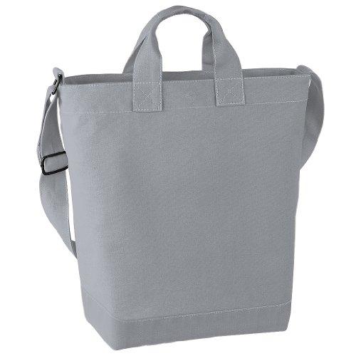 BagBase Shopping-Tasche / Einkaufstasche mit Schulterriemen, 15 Liter Einheitsgröße,Hellgrau