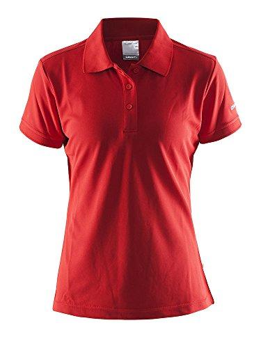 Craft Damen POLO PIQUE CLASSIC W red L Polohemd, L