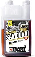 Ipone 800090 Huile Moteur Moto 2T Samouraï Racing Option Fraise-100% Synthétique avec Esters-Lubrifiant Haute...