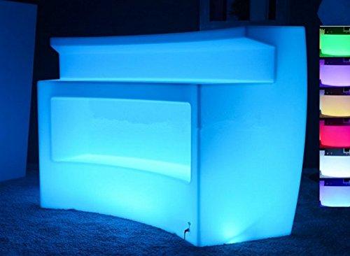 Gowe Wiederaufladbarer mehrfarbiger LED-Möbel, Eckbar, LED-Break-Tisch, Fernbedienung