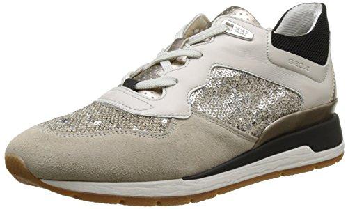 Geox D Shahira B, Zapatillas para Mujer, Beige (Off White/lt Taupec1181), 35 EU