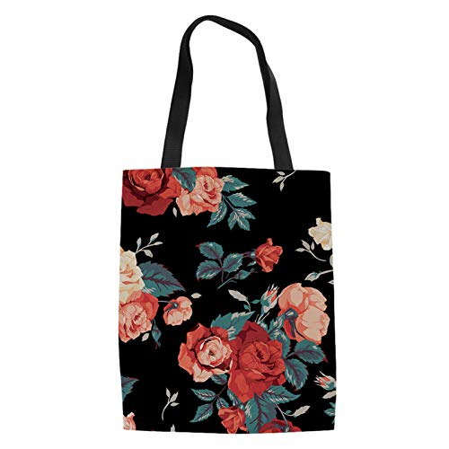 TOADDMOS Bolso de lona con impresión personalizada para mujeres y niñas, bolso de hombro casual con bolsillo interior