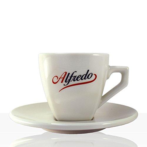 Alfredo Classic Kaffee / Cappuccino-Tasse mit Untertasse 6 Stk, Aurora elfenbein