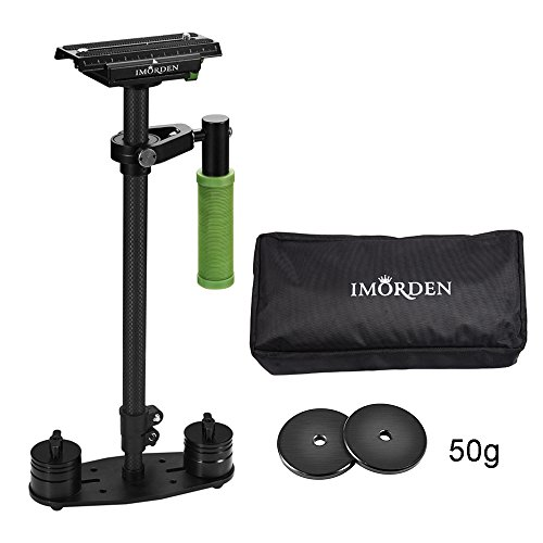 IMORDEN Carbon Fiber S-60c Video Handheld, Camera Stabilizer Movie Kit Film Making System for Canon, Sony, Nikon, Pentax, Panasonic, Fujifilm, Olympus DSLR Camera with Quick Release Plate