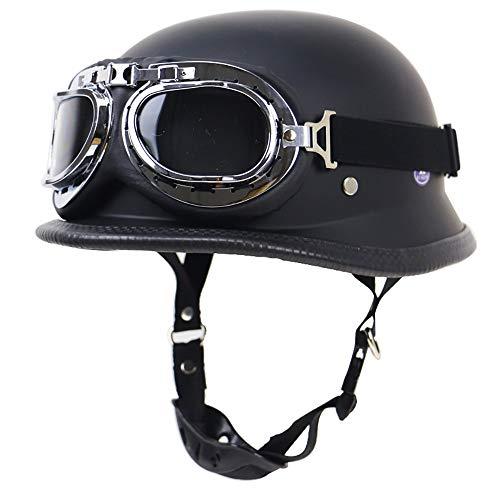 LUNANA Motorradhelm, Halbhelme Roller-Helm mit Built-in Visier, Jet-Helm, ECE-Zulassung, Männer und Frauen Helm für Geeignet