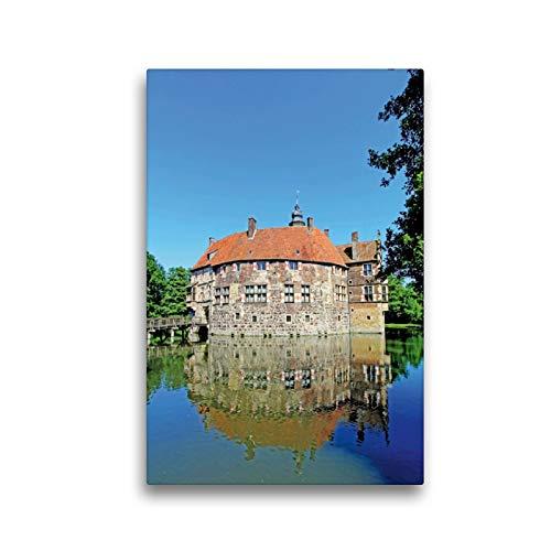 CALVENDO Premium Textil-Leinwand 30 x 45 cm Hoch-Format Lüdinghausen - Burg Vischering - ursprünglich 1271 erbaut. Wiederaufbau Mitte des 16.Jh, Leinwanddruck von Paul Michalzik