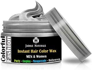 Jadole Naturals Temporary Hair Coloring Wax 120ml Natural Matte Hairstyle Hair Dye - Silver Ash