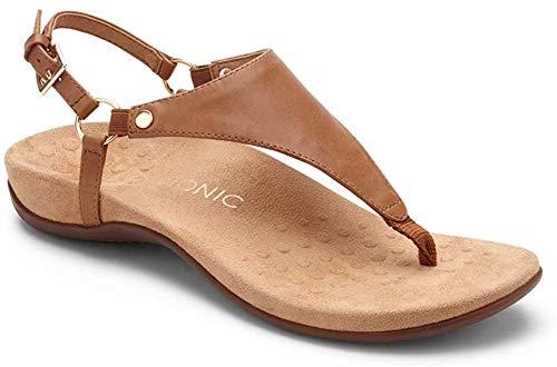 Vionic Women's, Kirra Thong Sandal Brown 8 M