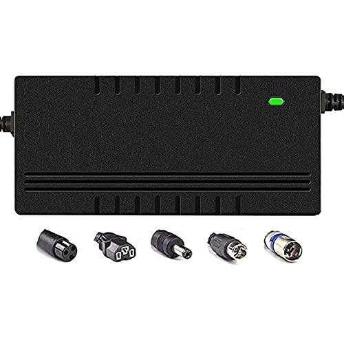 LIUPING 42V / 54.6V Cargador de batería de Litio Salida 36V / 48V 2A for Bicicletas eléctricas Paquete de baterías DC 5.5mm2.1MM Plug (Color : 36V 2A, Size : C)