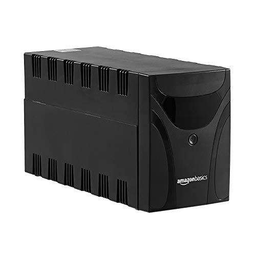 Amazon Basics – Unterbrechungsfreie Stromversorgung, 1.500 VA, 3 Schuko-Steckdosen, mit Abschalt-Software und Überspannungsschutz