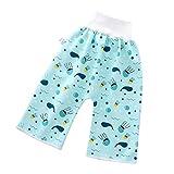 1 PC Baby Bequeme Windelrock Shorts, Kinderwindelrock Shorts wasserdichte und saugfähige Shorts Baumwolle Trainingshose mit Druckknöpfen, waschbar, wiederverwendbar, Atmungsaktiv für baby (L, E)