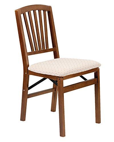 Stakmore Slat Back Folding Chair Finish, Set of 2, Fruitwood