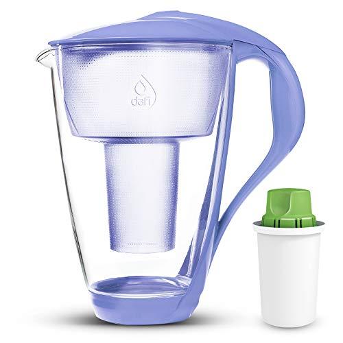 Dafi Crystal Glass Filtering Water Pitcher 8 Cups LED Violet + Alkaline...