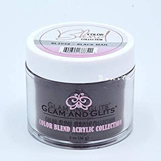 Glam And Glits Acrylic Powder Color Blend Collection BL3048 Black Mail 2 oz