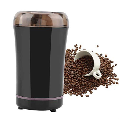 HJ 300W Elektrische Kaffeemühle, Kaffeemühle für Kaffeebohnen Nüsse Gewürze Getreide, Mühle mit Edelstahlmesser, 50g Fassungsvermögen (schwarz)