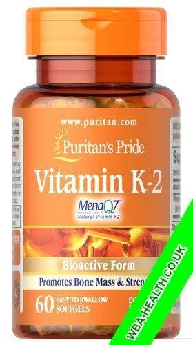 Puritan's Pride Vitamin K-2 60 Softgels
