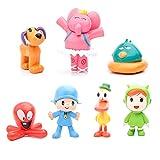 JIAK 7 Pcs Pocoyo Toys - Action Figure Doll Toy - Nina, Elly, Pato, Fred, Loula Kids Toys (Style)