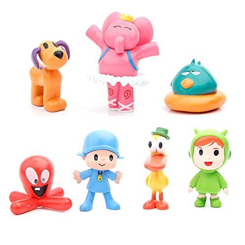 7 Pcs Pocoyo Toys – Action Figure Doll Toy – Pocoyo Toys Set -Pocoyo Birthday Party Supplies