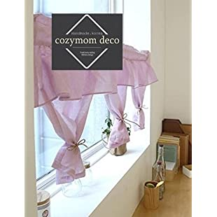 Customer reviews Handmade Natural Cotton Cafe Curtain, Kitchen Curtain Valances, European Rural Fashion Window Curtain for Home, One Piece 50(w)x110(l)cm-pink:Eventmanager