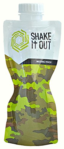 Shake It Out Fitness Flask, Makes All Mixed Drinks Taste Better, Flexible Roll It Up For Easy Storage, Easy Grip, 12 Ounce Ultra-Light Weight, Recyclable, Wide Spout For Easy Pouring (Camo, 7 Pack)