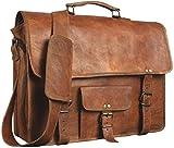Laptoptasche aus Leder   Messenger aus Leder für Damen und Herren   Aktentasche für Herren   Ein perfekter Ranzen für Schule und Arbeit (12 x 17 Zoll)