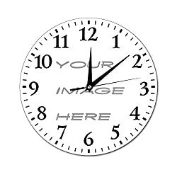FabricMCC Personalized Custom Wall Clock, Any Photo/Logo/Text/Image Printed Best Gift/Gift for Dad/Gift for Mom/Gift for Wedding/Gift for Birthday (12 by 12, Custom)