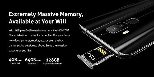 HOMTOM S8 - 5.7 pulgadas (18: 9 ratio full vision) Android 7.0 4G smartphone, 13MP cámara delantera + (5MP + 16MP) Cámara trasera dual, Octa Core 1.5GHz 4GB + 64GB: Amazon.es: Electrónica