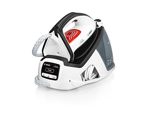 Bosch TDS4070 Serie 4 EasyComfort Centro de planchado, 2.400 W, 5.5 bares de presión, color blanco y gris