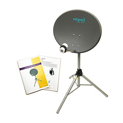 Satgear Beam60 Zone 2 Portable Satellite Caravan Travel Kit Designed For Use With Your Own Receiver (With Satfinder)