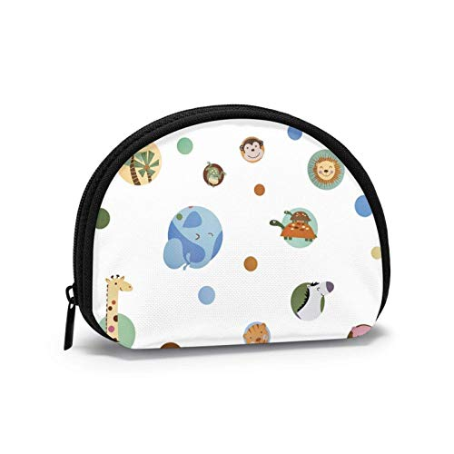 VOROY Face cloth for men and women,compatible with Jungle Animal Cute Polka Dot Coin Purse, Shell Storage Bag, Mickey Mouse Soft Coin Pouch for Women,