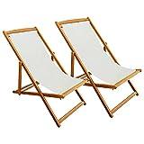 7H SEVEN HOUSE Tumbona Plegable 3 Posiciones Textil Cocobeach Blanco 7house