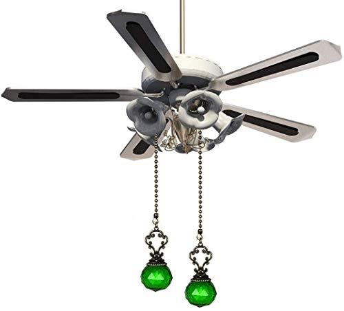2 PCS Vintage Style Fan Pulls Crystal Prism Ball Ball Techo Techo Fan Cadena (Color : Green)