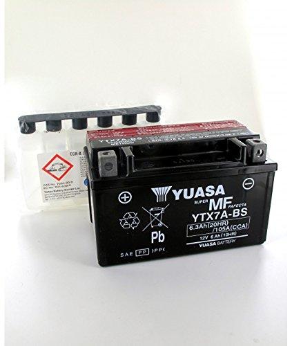 Yuasa - BLEI 12V 6.3Ah YTX7A - BS YUASA MF-Motorrad-Batterie - YTX7A-BS-OR
