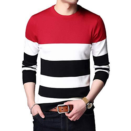 Derrick Aled(k) zhuke Sweater Men Casual Pullover Shirt Herbst Winter Slim Fit...