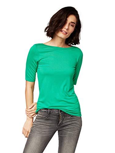 TOM TAILOR Damen 1007950 T-Shirt, Grün (Light Simply Green 12294), X-Large (Herstellergröße: XL)