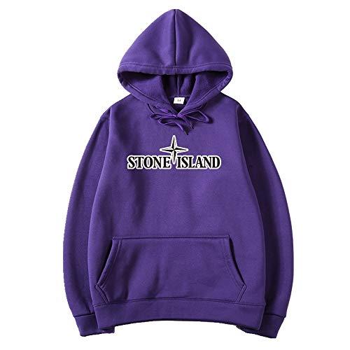 NOBRAND - Sudadera con capucha para hombre Morado violeta L